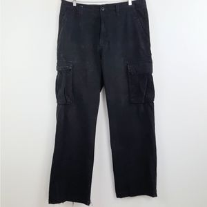 36x32 Cargo Black Pants Distressed Work Men